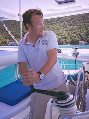 Captain Matt hard at work, on a day off