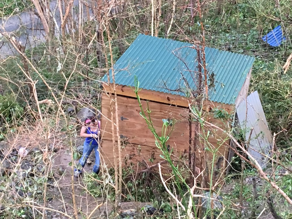 Safe Goats! ....Who knew we could build a Hurricane proof goat house