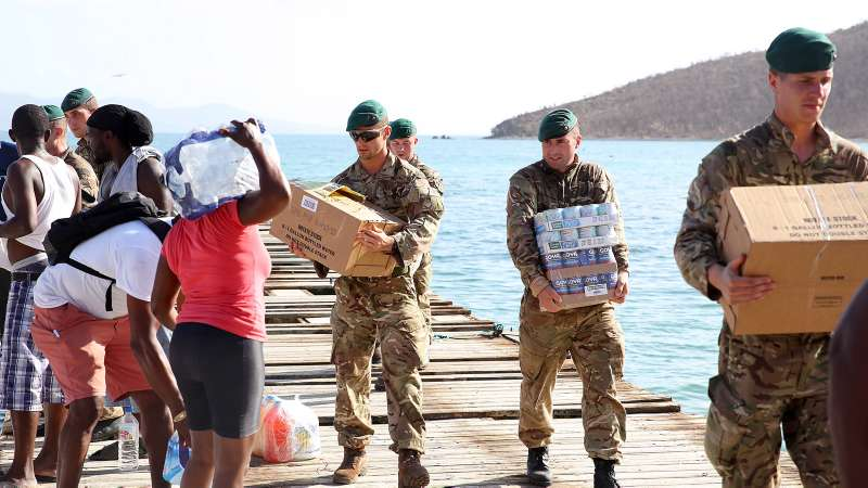 British forces arrived on BVI - photo courtesy of Forces Net.