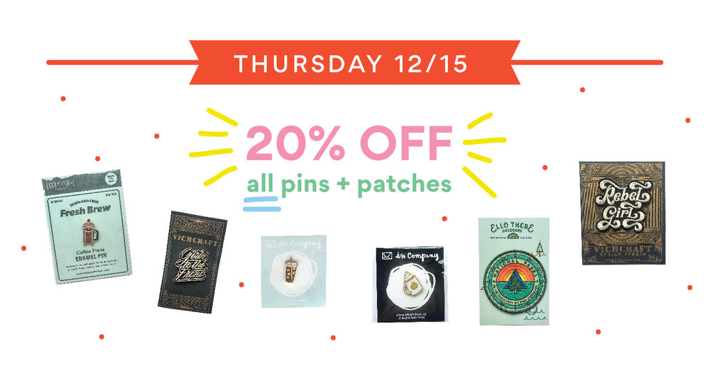 handzy holiday sale pins and patches cincinnati covington gift shop