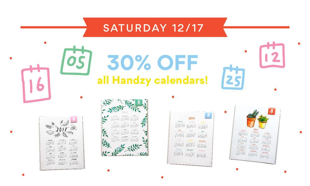 handzy holiday calendar sale cincinnati covington gift shop