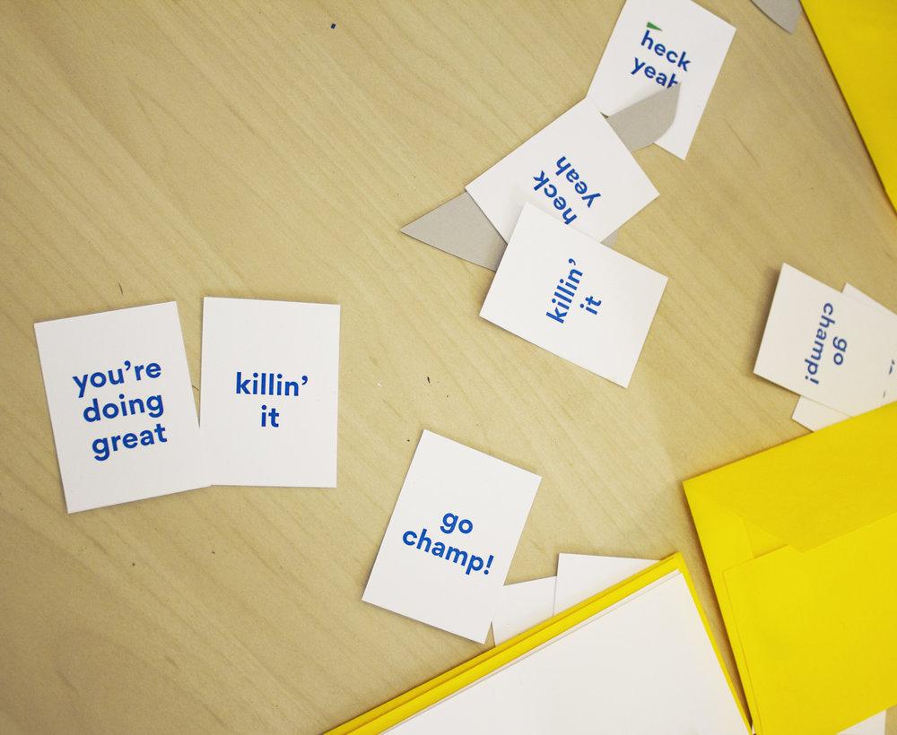 Cut Paper Fun Phrases