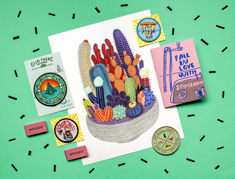 A Cactus Club print pairs well with some other cute stuff!