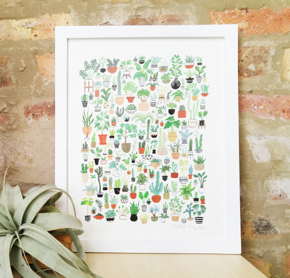 THIS ADORABLE PRINT is perfect for plant ladies (and aspiring plant ladies)!!