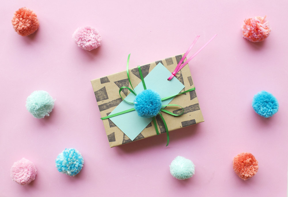 We are inspired by some of the gift box sets we made earlier last month in our Gift Wrap workshop with Yelp Cincy! They're easy + colorful + oh so cute!