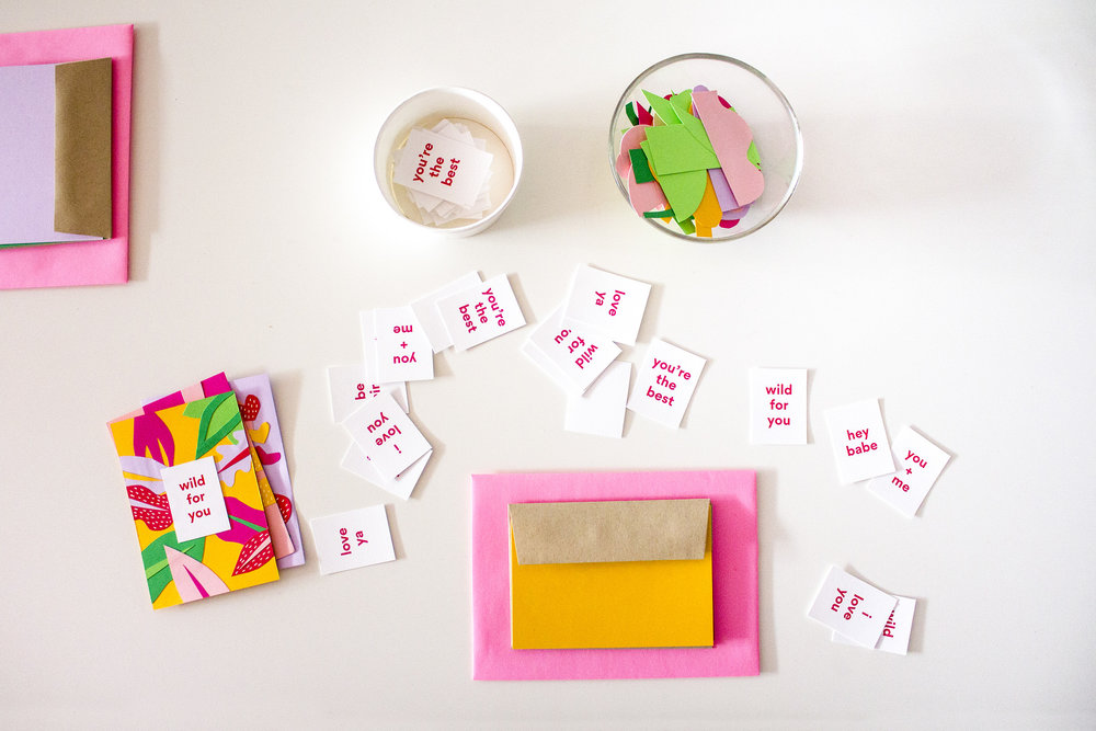 DIY LOVE CARDS FROM OUR   Valentine's Day WORKSHOP  !