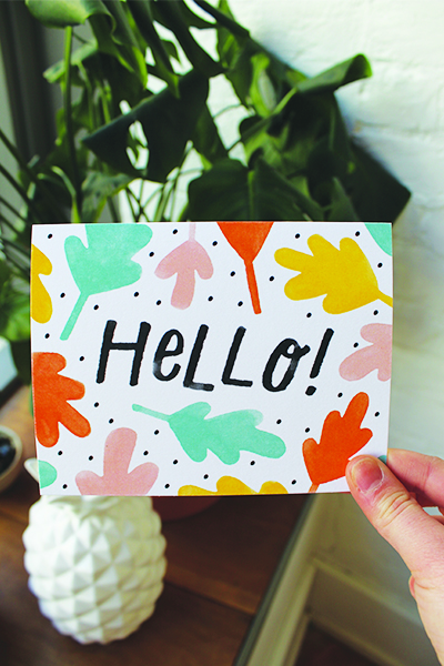 Day 5: Using this cute Handzy   'Hello!'   card   for a friend I haven't seen in a loooong time!