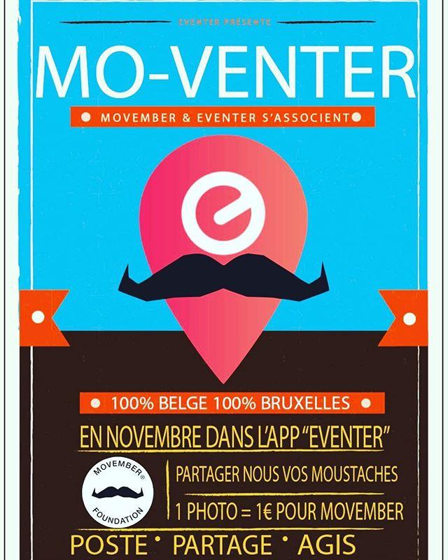 @streamoneventer s'associe à @movember jusqu'au 30 novembre en Région de Bruxelles-Capitale ! Téléchargez Eventer, cliquez sur MO-VENTER  Uploadez une photo de vous et votre plus belle moustache ! 1 Photo = 1 € pour la fondation !!!! Poste, Partage , Agis ! #movember #brussels #moustache #agissons #eventer #picoftheday #picture #selfies #mobile #mobileapp #betech #bruxelles #photography #photo