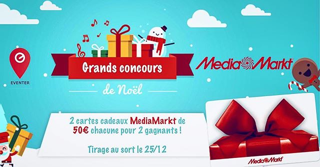🎄🎁MERRY CHRISTMAS🎁🎄 2 cartes cadeaux à gagner de 50€ (chacune) chez @mediamarktliegestlambert et @mediamarkt_mediacite ! 🎁🤗 Pour participer :  1) Follow @streamoneventer 2) Tag 2 amis !  3) Double ta chance de gagner en partageant ce post dans ta storie (screen) et tag @streamoneventer 🎊🎉Fin le 25/12 !!!!! 🎉🎊 🍀 🍀 GOOD LUCK 🍀 🍀