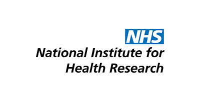 National Institute for Health Research logo with blue NHS letters top right