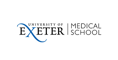 University of Exeter Medical School logo with a blue X in the word Exeter