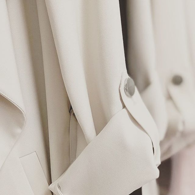 "Monday's Up Close and Personal with Our ""Ornella"" Wrap Coat 🧥"