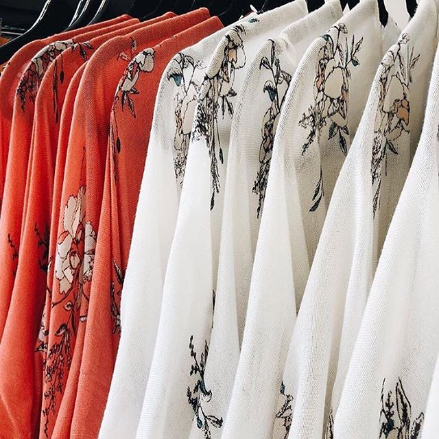 Summer palette...shop our kimonos in store! 🌻