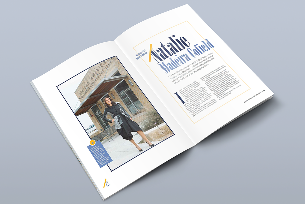 Cover story layout and design