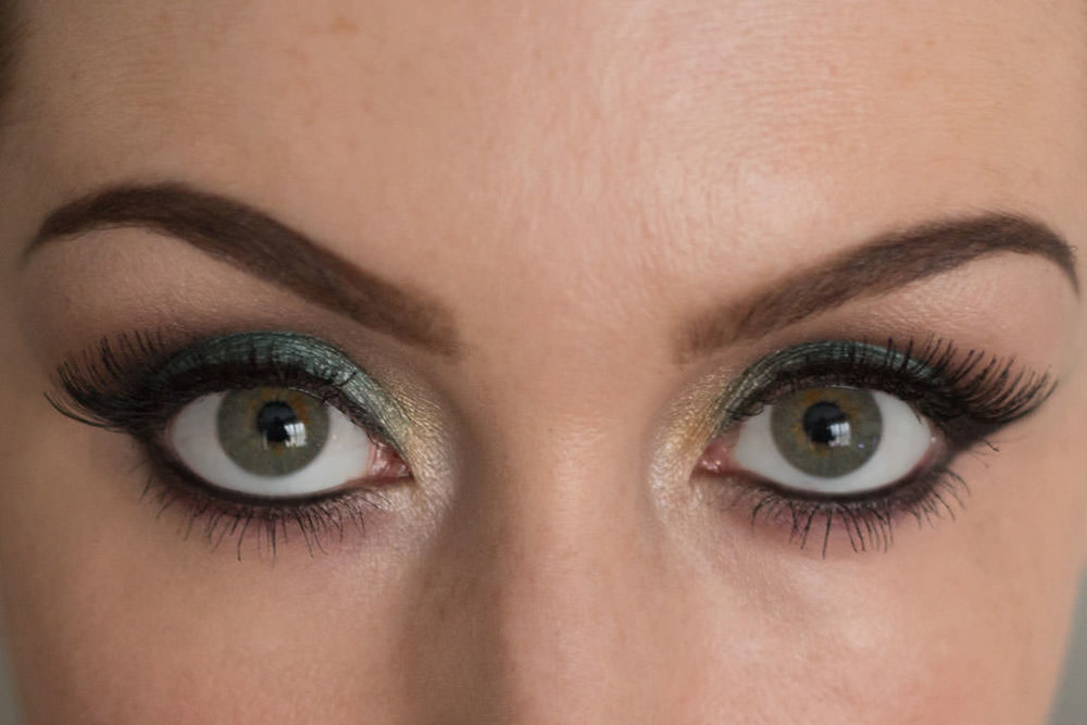 Peacock inspired eyes