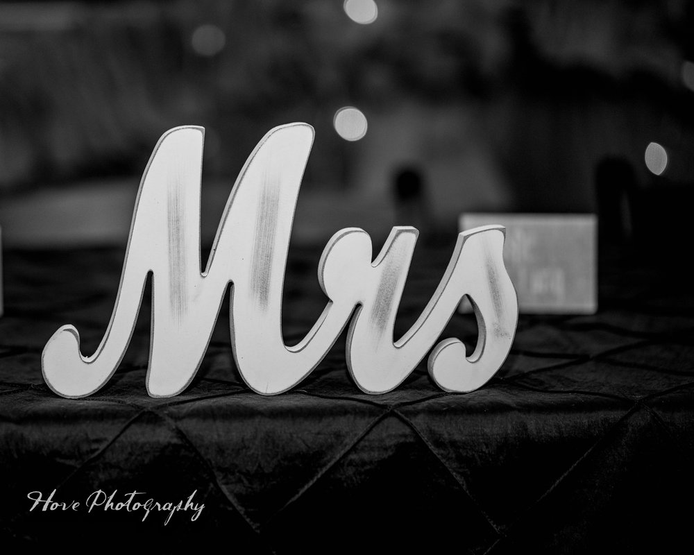 Mr & Mrs Wooden Signs