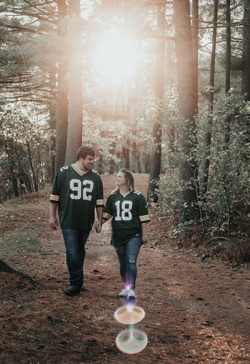 Wisconsin Rapids: Packer Engagement Session