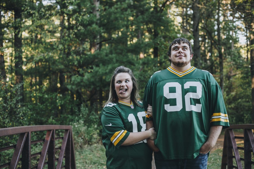 Just Being Silly: Engagement Session Packer Style!