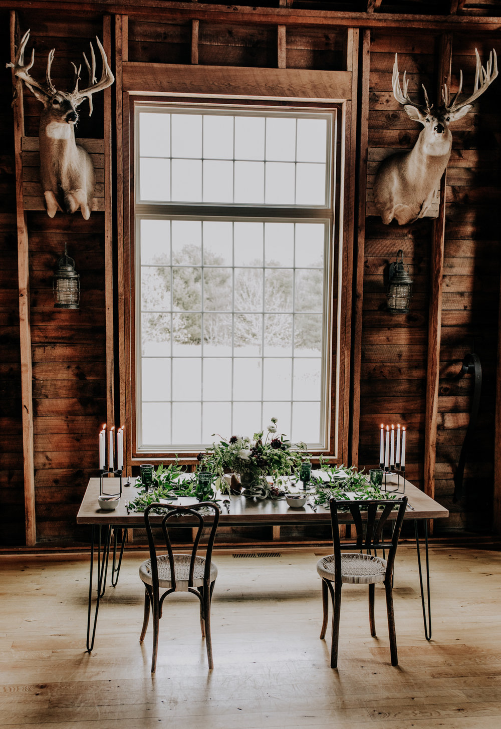 Rad Photographers - Rustic Wedding Decor - Cabin Elopement - Hove Photography - Magnolia Market Placesettings