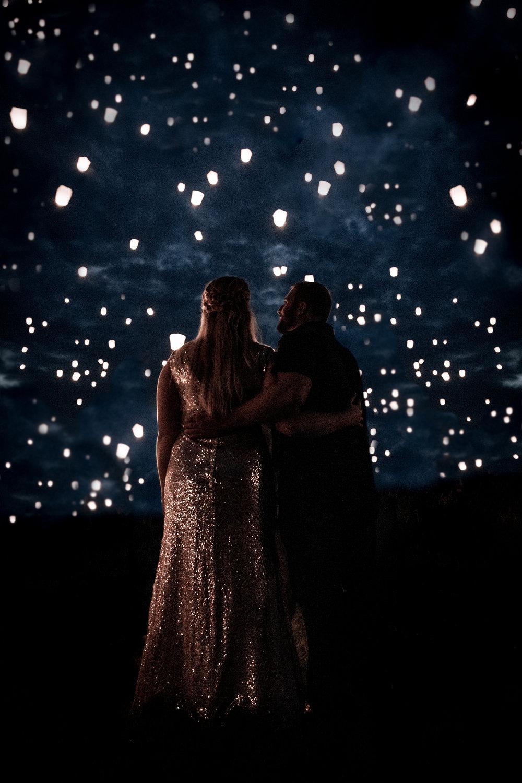Lantern Engagement Session - Milwaukee - Elopement Photographer - Wedding Photographer - Sequin Dress - Blush