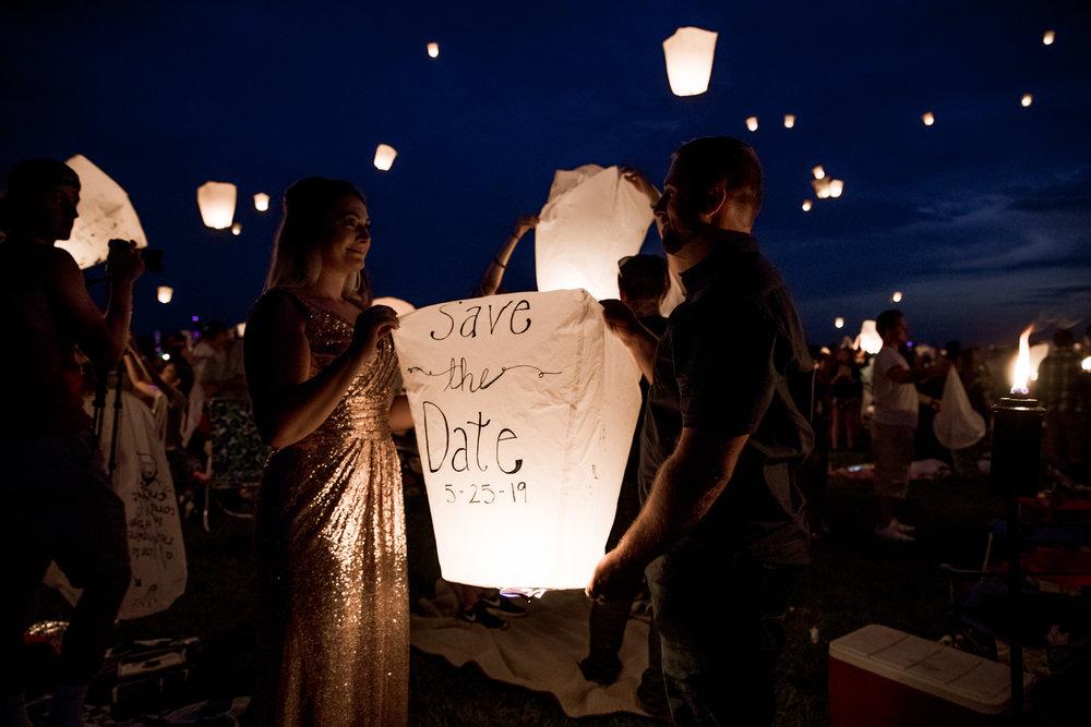Milwaukee Lantern Festival - Lantern Engagement - Sequin Dress - Blush - Engagement - Save the Date - Elopement photographer
