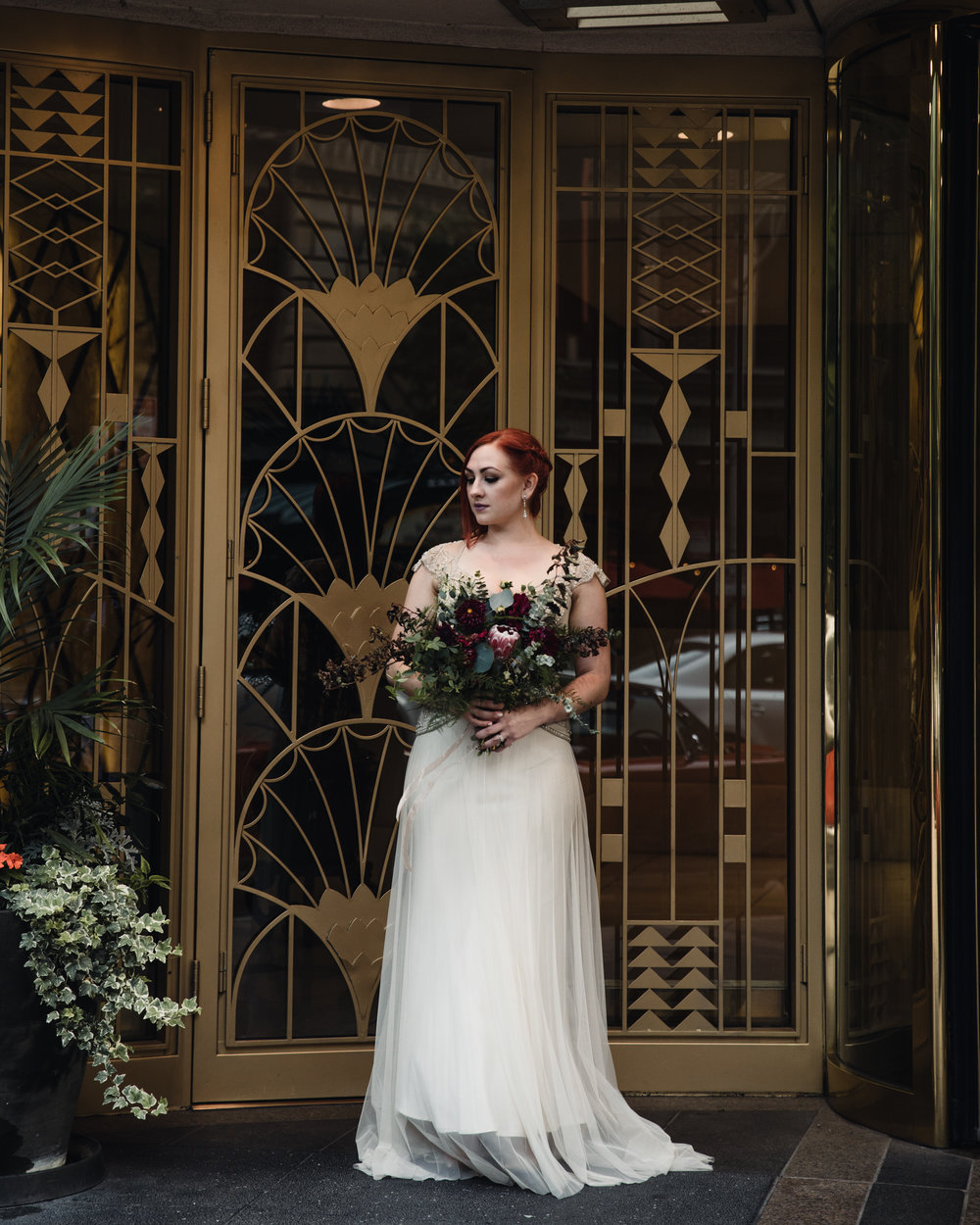 Gown By Gwendolynne - Florals by Cora Flora - Photography by Hove Photography