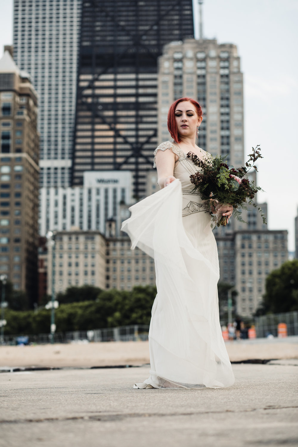 Chicago IL - Gown By Gwendolynne - Florals by Cora Flora - Photography by Hove Photography