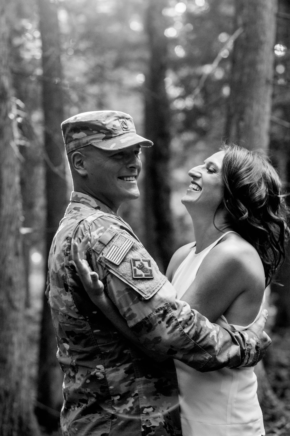 International Wedding Photographer - Military Engagement - Wisconsin - Candid Moments