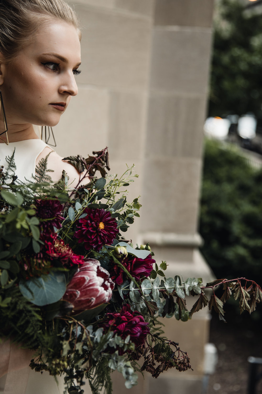 Chicago, IL - Cora Flora Florals - Sarah Seven Gown