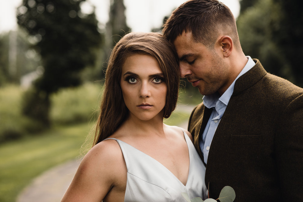 Kinley Kay Beauty Studio gets it right with this fierce but soft and romantic look! Dress: Vene AI - Romantic Bridal Gowns handcrafted from Los Angeles California.