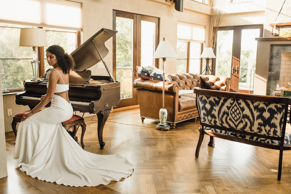 Erika's Bridal and Chanel gracing the inside of Givens Farm home.