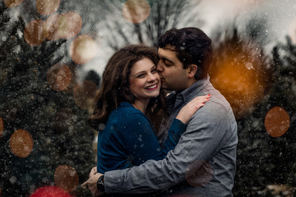 Christmas Engagement Session - Tree Farm Engagement Session  -