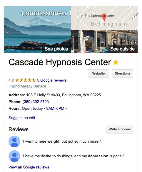Cascade Hypnosis Training, Erika Flint