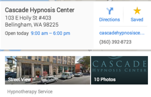 Cascade Hypnosis Center on Google Maps