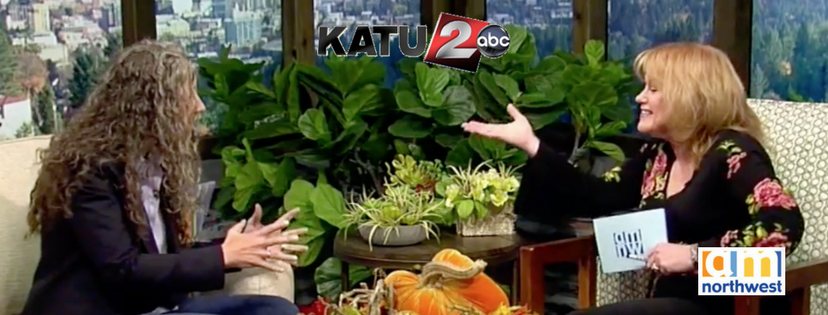 Erika on NBC's KATU-TV 12, Portland with Helen Raptis