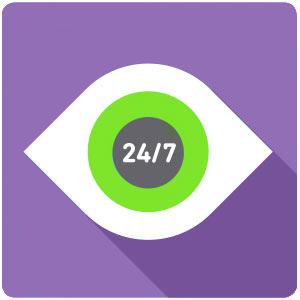 animated eye 24/7