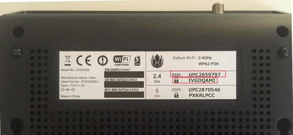 wifi ssid broadband box