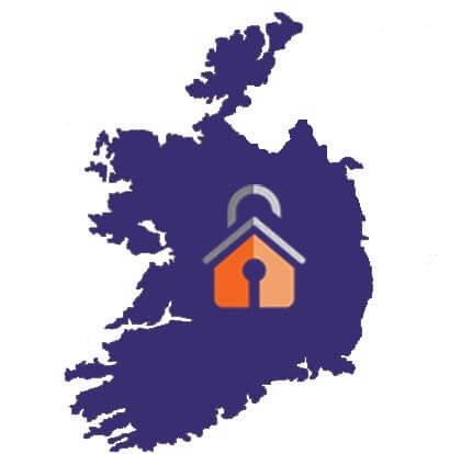 map of ireland homesecure logo