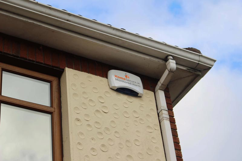 house alarm bellbox on home