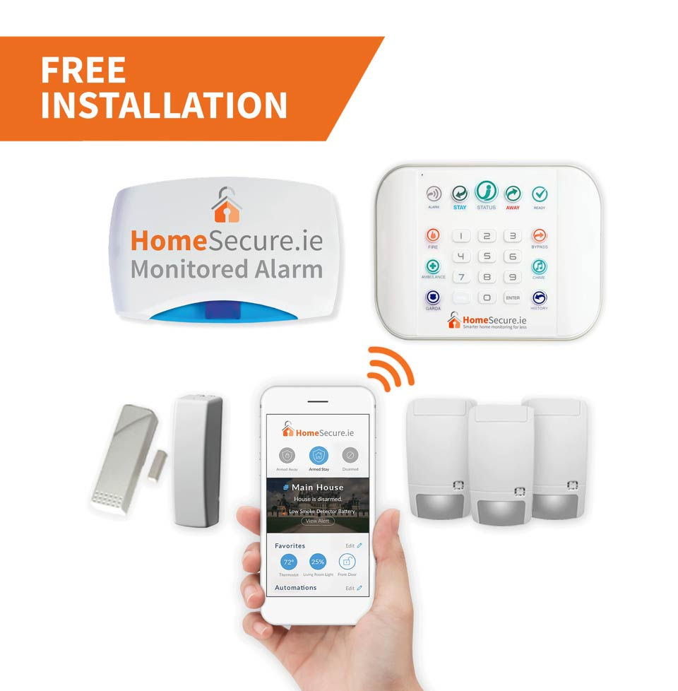 Zero wire wireless home alarm