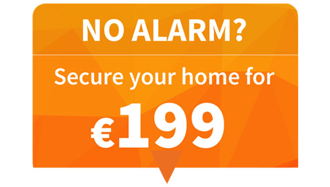secure your home alarm for €199