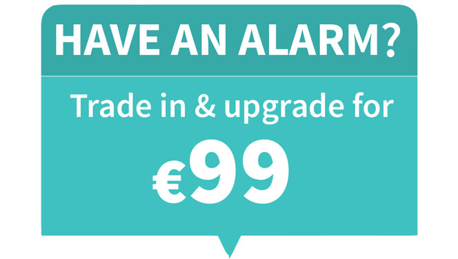 home alarm trade-in deal