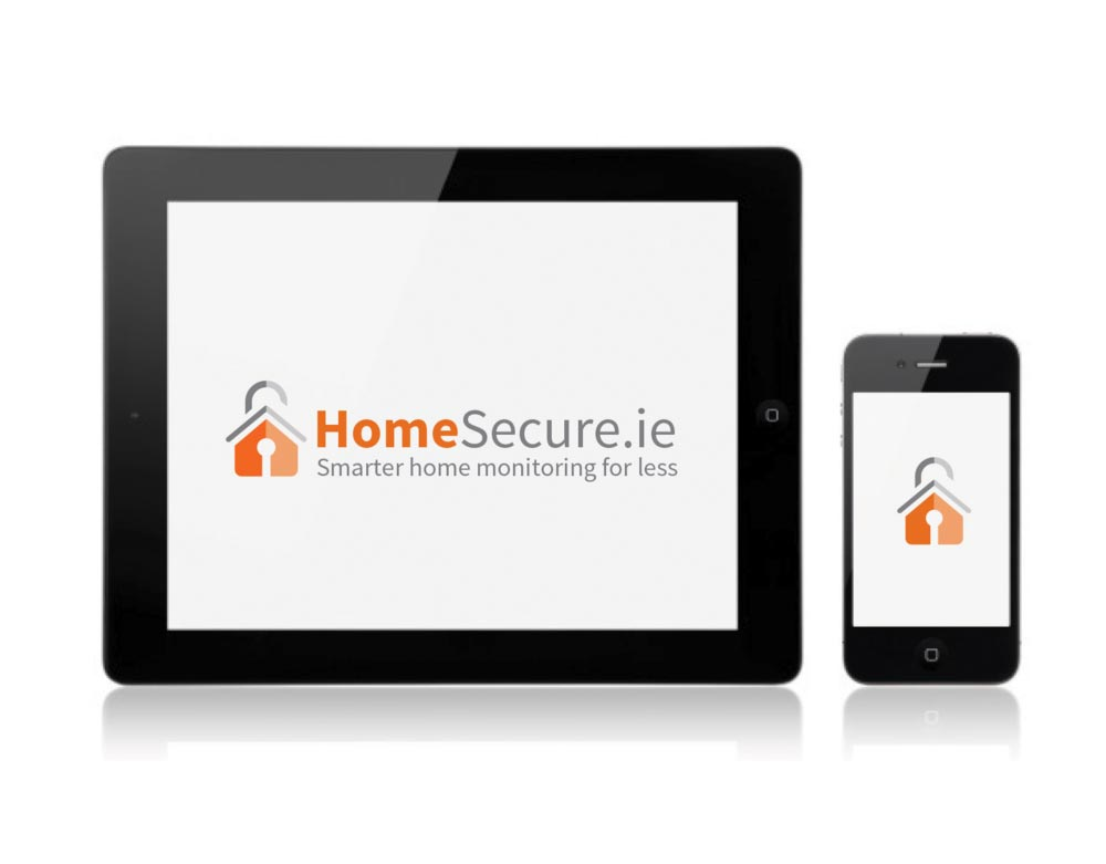 homesecure logo on tablet and tablet