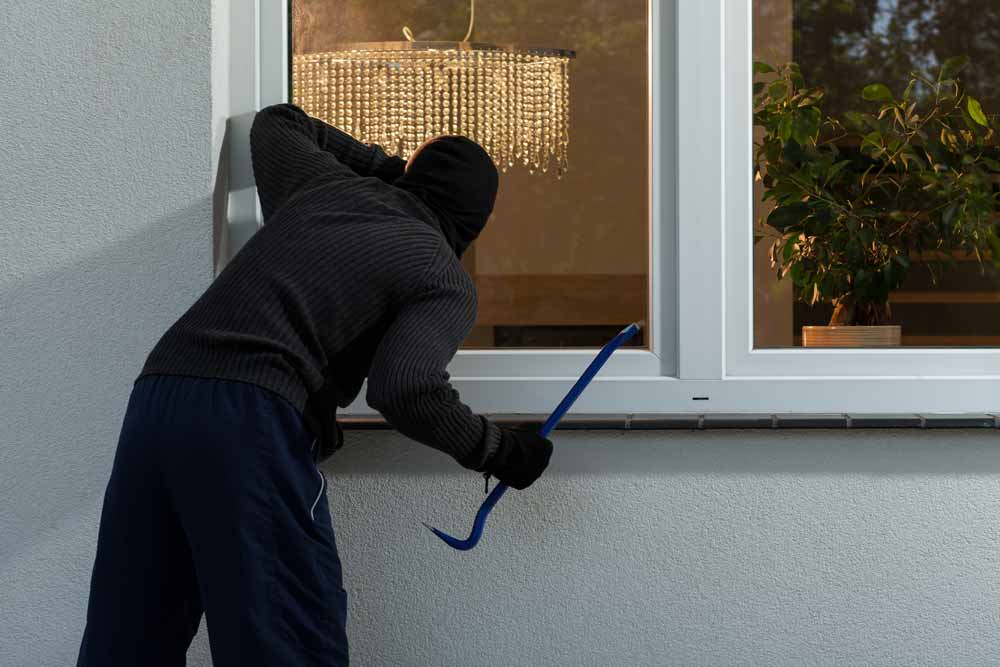 home insurance in the event of a burglary