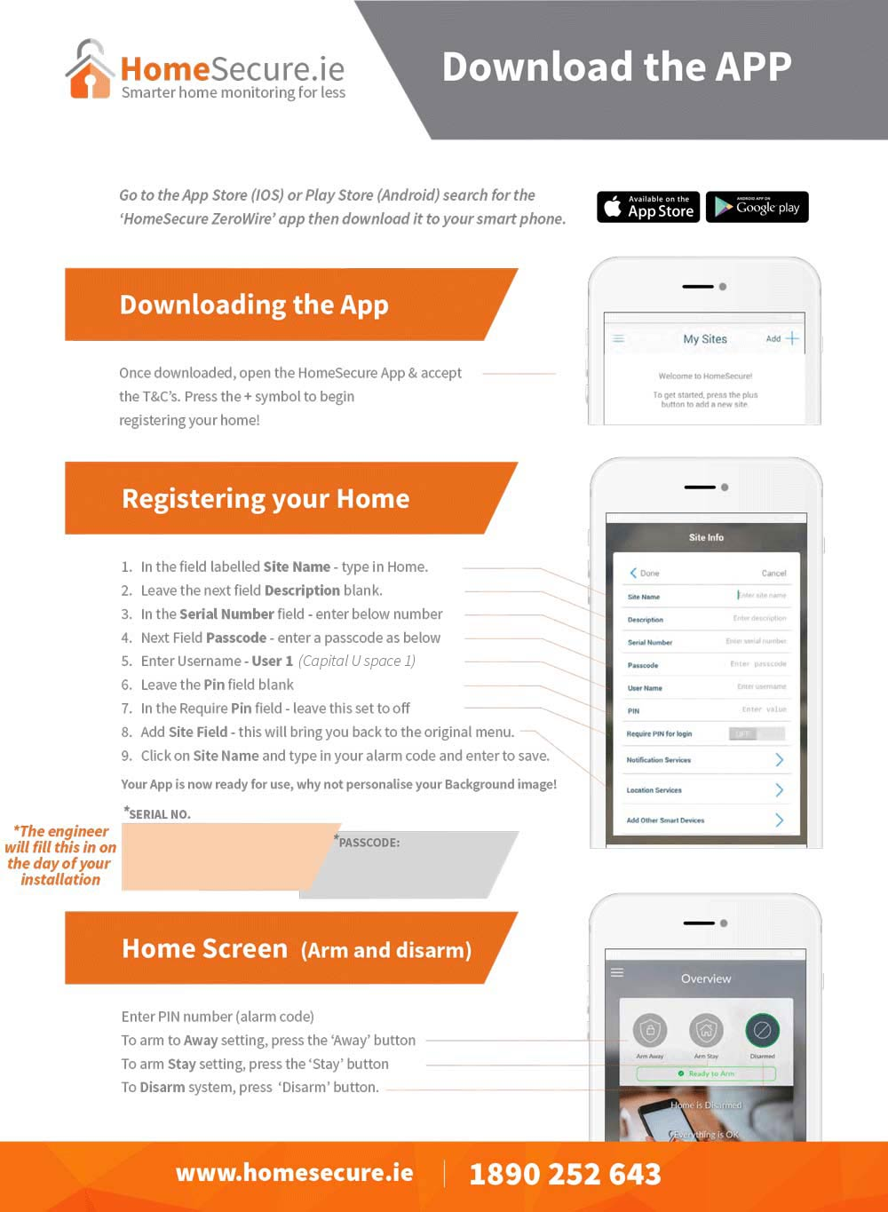 download house alarm app instructions