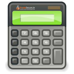 homesecure logo on calculator