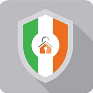 Ireland flag shield homesecure logo
