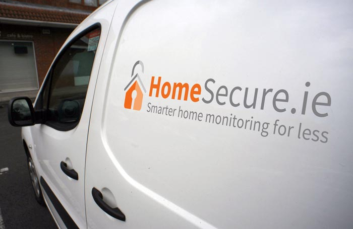 homesecure alarm installer van