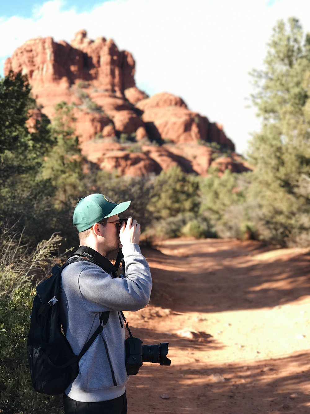 Caught a pic of my husband while hiking Bell Rock!
