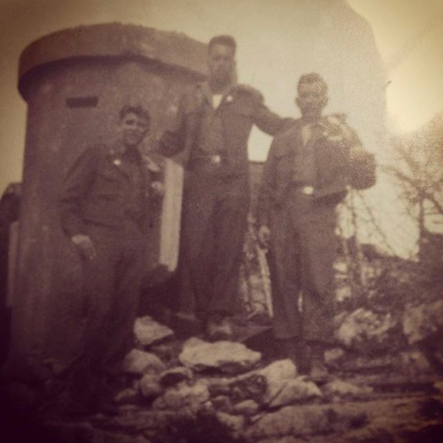My grandpa (middle) on top of Hitler's Eagle's Nest. He was in the infantry who raided Hitler's home. He told me about how they drank some of his wine and even dove in his ice-cold pool to celebrate the victory. He also had many stories of war that he didn't want to repeat or remember. He passed away 5 years ago this week, and I wish I could call him today (like I used to every year) to thank him. . Our armed forces sacrifice SO much for our country. We will never know all they have endured on our behalf. THANK YOU. Freedom truly isn't free. #veteransday